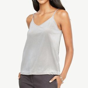 Ann Taylor gray/silver velvet swing camisole